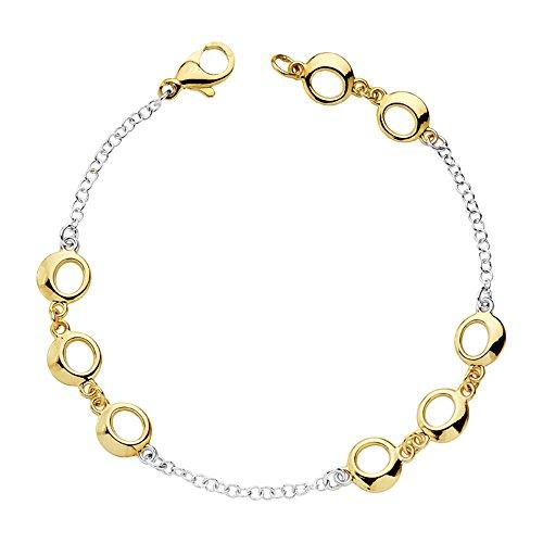 Gold Damen-Armband bicolor 18K Blasen Meer