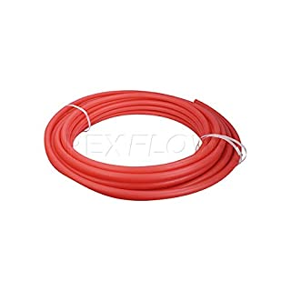 Pexflow PEX Potable Water Tubing - PFW-R12100 1/2 Inch X 100 Feet Tube Coil for Non-Barrier PEX-B Residential & Commercial Hot & Cold Water Plumbing Application (Red)
