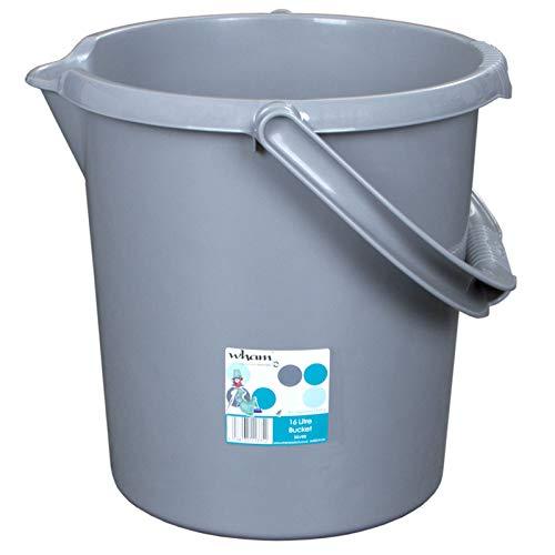 #11 Kunststoff Eimer mit Ausguss 16 Liter • Putzeimer Haushalt Camping mit Henkel Abfalleimer