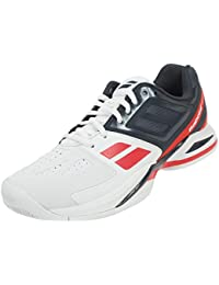 Babolat 30s1302pour homme V-Pro 2Clay M Whitet/rouge Chaussures de tennis - Multicolore - Whitet/Red keYBayHXp,