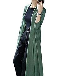 ZJEXJJ Nuevo suéter Largo Cardigan Femenino para Mujer Fuera de suéter de Lana Abrigo Suelto Ropa
