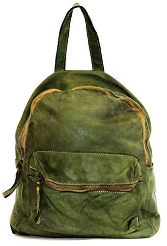 BZNA Bag Ben grün Backpacker Designer Rucksack Damenhandtasche Schultertasche Leder Nappa ItalyNeu