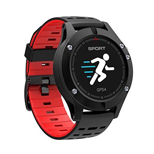 XWEM Smart Sportuhr Mit Integriertem Pulsmesser, Überwachung Der Körperlichen Aktivität Und Schlaf,Red