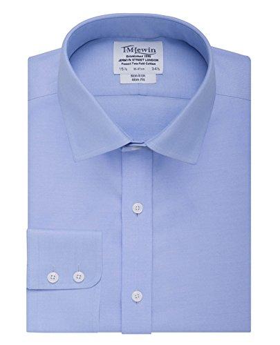 tmlewin-mens-non-iron-twill-slim-fit-button-cuff-shirt-blue-165