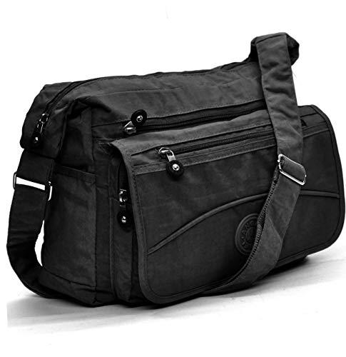 f3e6e841f4 borsa tracolla nylon donna unisex tessuto tempo libero viaggio viaggi porta  documenti pc ipad notebook lavoro