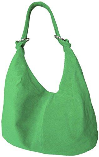 DIVA-MODE, Borsa a spalla donna Nero (Verde scuro)
