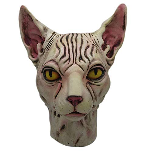 Scary Kostüm Cat - Realistische Latex Horror Maske Halloween Kostüm Adult Scary Cat Karneval Party Bar liefert Scary Devil Masquerade Rollenspiele