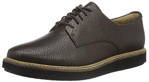 clarks-glick-darby-womens-derby-brown-dark-brown-metallic-leather-7-uk-41-eu