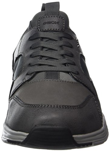 Geox U Snapish A, Sneakers Basses Homme Gris (Anthracite)