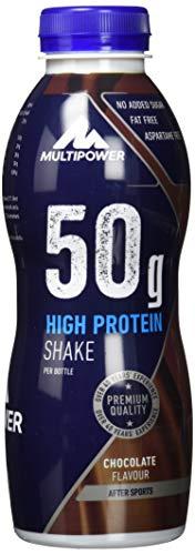 Multipower High Protein Shake Chocolate - fett- und kalorienarmer Fitness Shake für den...