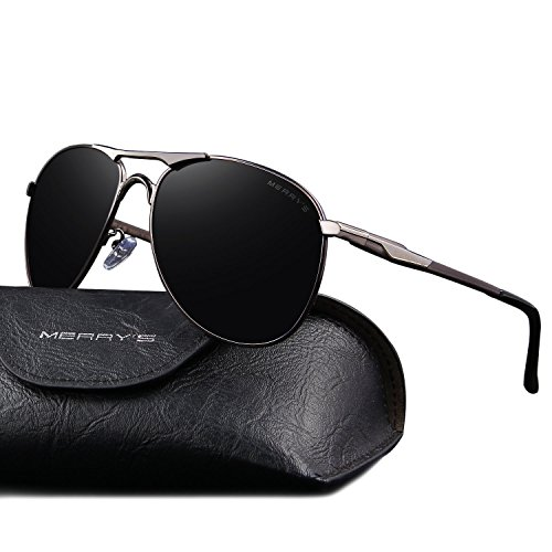 356765975fd MERRY S Mens Aviator Polarized Sunglasses Coating Lens Driving Shades S8712  From MERRY S