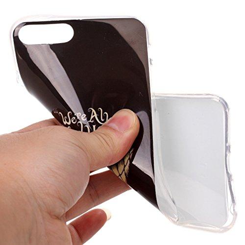 Pour iPhone 7 Plus Coque,Ecoway Housse étui en TPU Silicone Shell Housse Coque étui Case Cover Cuir Etui Housse de Protection Coque Étui –YH-16 YH-17
