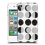 Head Case Designs Offizielle Amanda Laurel Atkins Mondphasen Weiss Muster Ruckseite Hülle für iPhone 4 / iPhone 4S