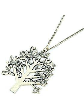 Halskette mit Lebensbaum Wunschkette Traumbaum Vinatge Kette in Gold-Optik von DesiDo®