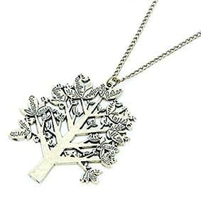 Vintage Chaîne avec l'arbre des voeux Désir Rêve Arbre Collier chaîne Bronze Gold de desido