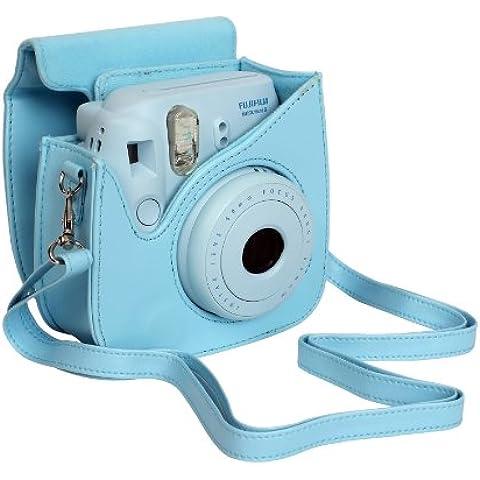 Fujifilm P10GFC0008A - Funda para Fujifilm Instax Mini 8 (piel sintética), color azul