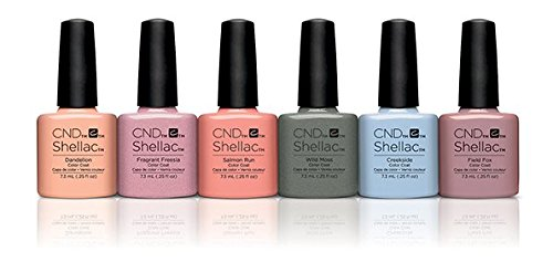 CND Shellac Kit, Flora and Fauna Collection 7.3 ml, Pack of 6