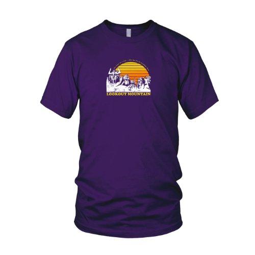Lookout Mountain - Herren T-Shirt, Größe: XXL, Farbe: lila