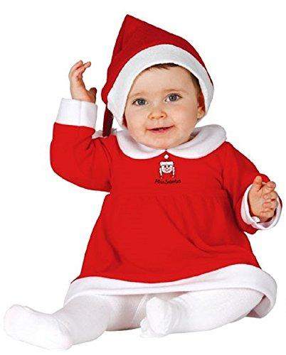 Baby Mädchen Little Miss Weihnachtsmann Weihnachten Fräulein Claus Kostüm Kleid Outfit - Rot, 12-24 Monate (Miss Claus Kostüm)