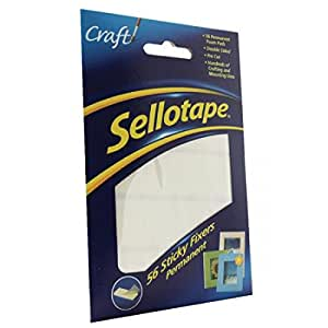 Sellotape Permanent Double Sided Sticky Fixer - Pack of 56