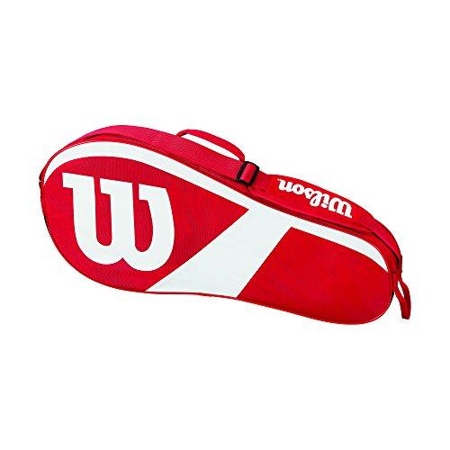 Wilson Damen/Herren Tennis-Tasche, für Spieler aller Spielstärken, Team III 3 PK, Einheitsgröße, rot/weiß, WRZ827803