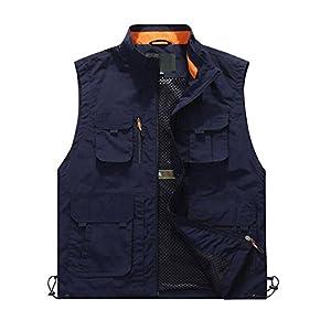 415D%2BoutOCL. SS300  - PFSJH Men's Mesh Vest Outdoor Multi-Pocket Multi-Purpose Waistcoat Photography Advertising Fishing Large Size Vest