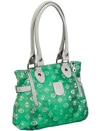 Poodlebags Club - Attrazione - Napoli - 3CL0313NAPOG, Borsa a spalla donna 30x26x12 cm (L x A x P), Verde (Grün (green)), 30x26x12 cm (L x A x P)