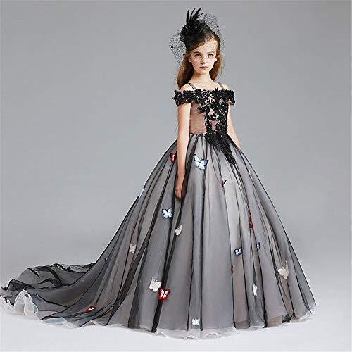 Peggy Gu Weihnachtshochzeits-Blumenmädchenkleid-Partykleid für Girs Kostüm Cosplay Prinzessin Schickes Partykleid (Größe : - Gir Cosplay Kostüm