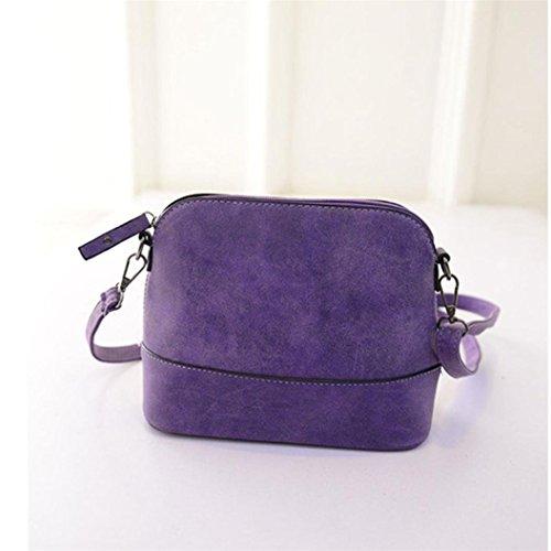 Pu Ran®, Borsa a spalla donna Purple