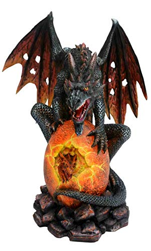 Osiris Trading UK Figur Feuerdrache bewacht Drachen-Ei