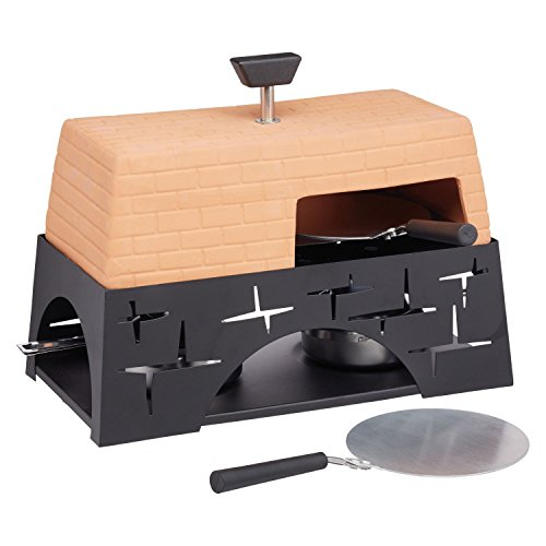 Tabletop - Pizza / Garlic Bread Oven - Terracotta Mini Oven - with 2 x 11cm pizza pans