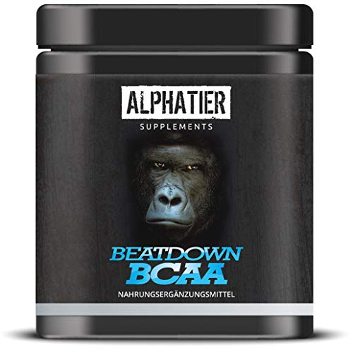 BCAA Kapseln - 360 Mega Caps à 750 mg - 2:1:1 hochdosiert - essentielle Aminosäuren Komplex - ALPHATIER BCAAs ohne Magnesiumstearat - Hergestellt in Deutschland - Amino Supplement