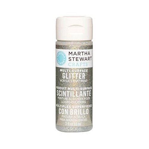 Martha Stewart Glitter Acrylic Craft Paint 2oz-Antique Silver