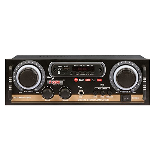 5 Core 15BT Mini Stereo Audio Amplifier Bluetooth, Mic Input, MP3 Player, SD Card, USB, FM Radio, Aux Input & Remote Control  available at amazon for Rs.2799