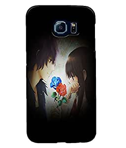Fuson Love Couple Back Case Cover for SAMSUNG GALAXY S6 - D4016