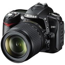 Nikon D90 Appareil photo numérique Reflex 12.3 Kit Objectif AF-S DX VR 18-105 mm Noir (Reconditionné)