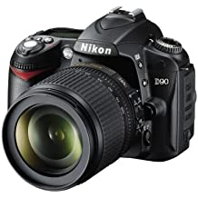 Nikon D90 SLR-Digitalkamera (12 Megapixel, Live-View, HD-Videofunktion) Kit inkl. 18-105mm 1:3,5-5,6G VR Objektiv (bildstab.) (Generalüberholt)