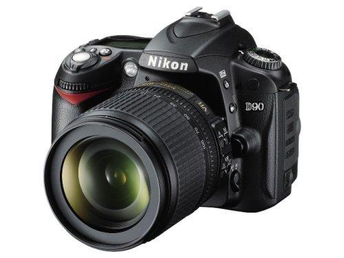 Nikon D90 SLR-Digitalkamera (12 Megapixel, Live-View, HD-Videofunktion) Kit inkl. 18-105mm 1:3,5-5,6G VR Objektiv (bildstab.) (Generalüberholt) D90 Kit