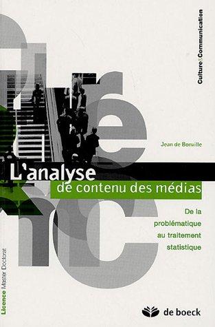 L'analyse de contenu des médias : De la problématique au traitement statistique