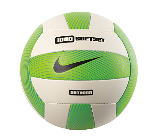 Nike Softset Outdoor Deflated Volleyball, Electric Green/White/Gamma Blue/Black, 0