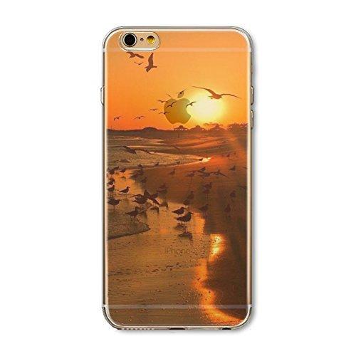 Coque iPhone 6 Plus 6s Plus Housse étui-Case Transparent Liquid Crystal en TPU Silicone Clair,Protection Ultra Mince Premium,Coque Prime pour iPhone 6 Plus 6s Plus-Paysage-style 18 11