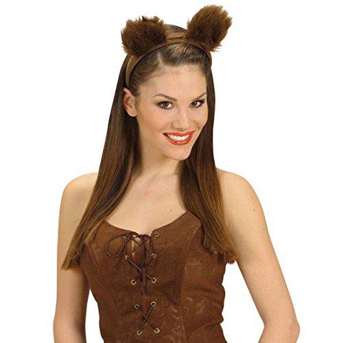 Erwachsene Für Braun Bär Kostüm - NET TOYS Haarreif Bärenohren Bären Ohren Kopfbügel braun Bärchenohren Tier Ohren Bär Kostüm Zubehör