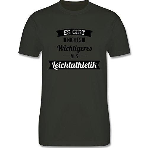 Sonstige Sportarten - Es gibt nichts Wichtigeres als Leichtathletik - Herren Premium T-Shirt Army Grün