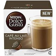 NESCAFÉ Dolce Gusto Café au Lait Intenso Coffee Pods, 16 Capsules (16 Servings)