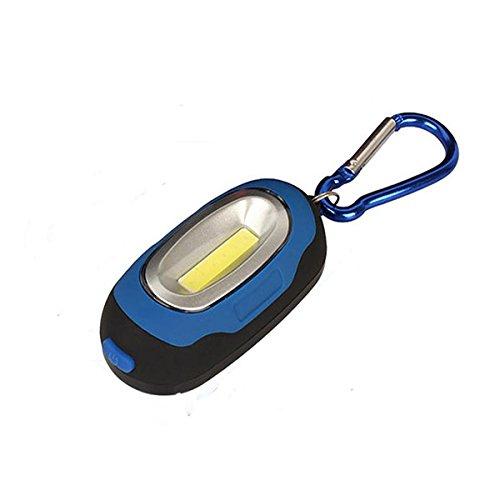 Inovey Portable Magnetische Schlüsselanhänger Taschenlampe Taschenlampe Mit Cob Led Lampe Camping Laterne Arbeiten-Blau