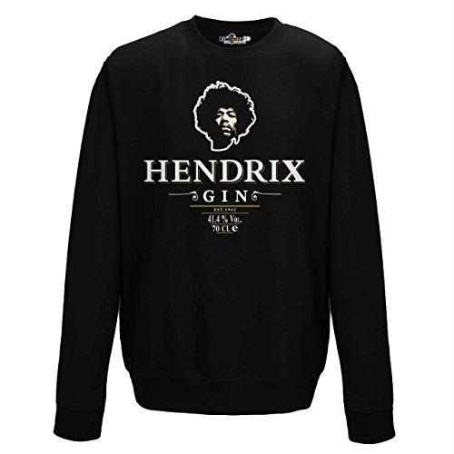 Sweatshirt Rundhalsausschnitt Gin Hendrix Parodie Rock Legend Trash 3kiarenzafd Streetwear Jet Black