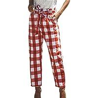 junkai Pantalones Ocasionales De Las Señoras Pantalones 3/4 DE Las Mujeres Pantalones Elásticos De La Cintura del Vendaje Tamaño S-XL