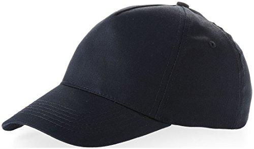 us-basic-5-panel-childrens-baseball-cap-hat-13-colours-navy-blue
