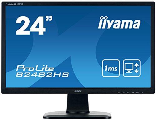 Iiyama iiyama ProLite B2482HS-B1 61 cm (24 Zoll) LED-Monitor Full-HD (VGA, DVI, HDMI, Höhenverstellung, Pivot) schwarz