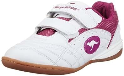 KangaROOS Backyard, Mädchen Sneakers, Weiß (wht/fuchsia 063), 27 EU